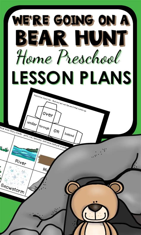 going on a hunt theme home preschool lesson plan