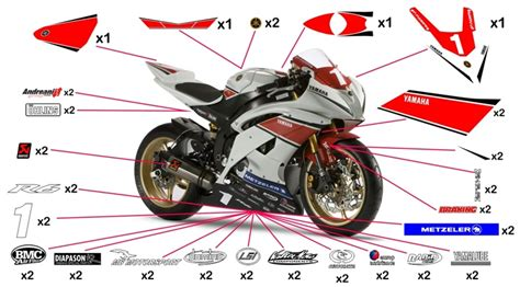 Sticker Yamaha 50th Anniversary by Stickers Yamaha R6 Cup 2012 Yzf R1 Wgp 50th Anniversary
