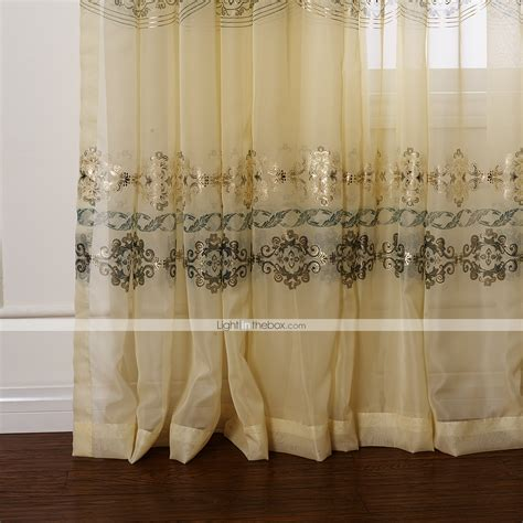 fancy sheer curtains two panels country fancy arabesque jacquard sheer