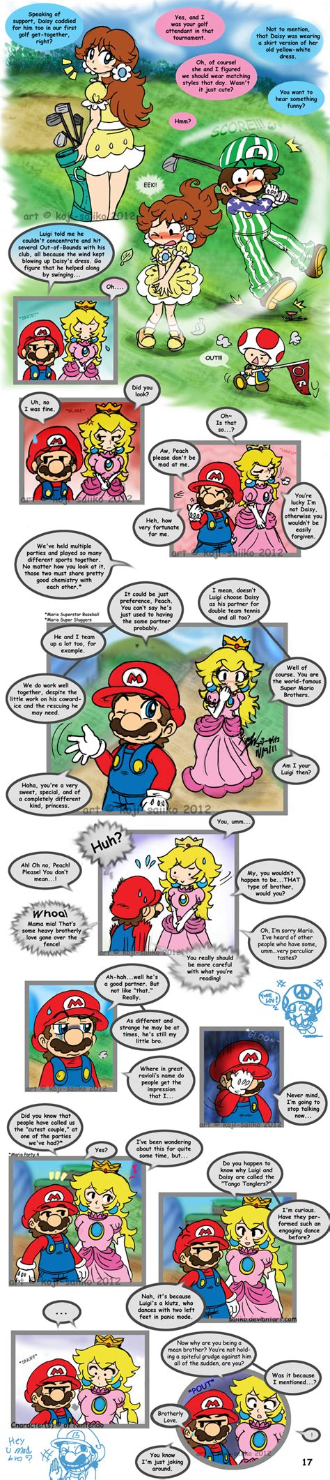 mario alone at home pg 17 end by saiiko on deviantart