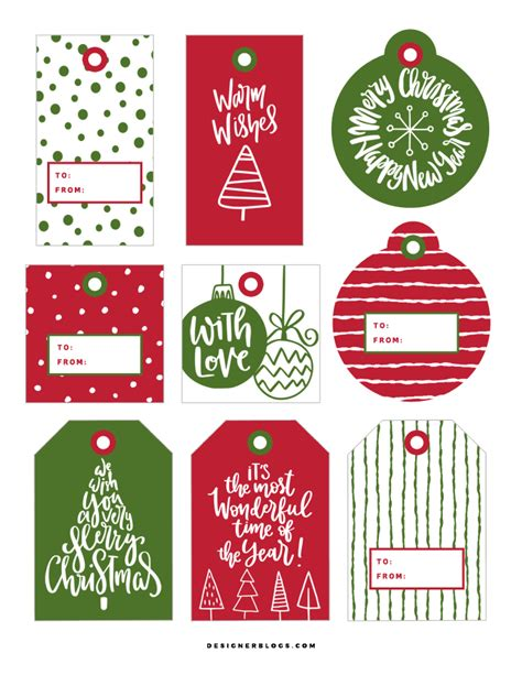 printable christmas gift tags to make christmas gift tags printable designer blogs