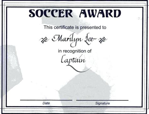 soccer certificate templates for word template soccer certificate template for word
