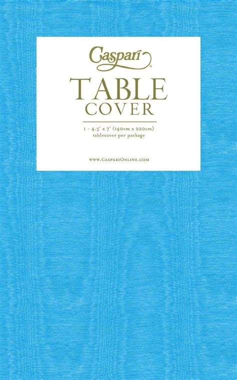 turquoise table cover caspari moire tablecover 54x84 turquoise tablecloth digs