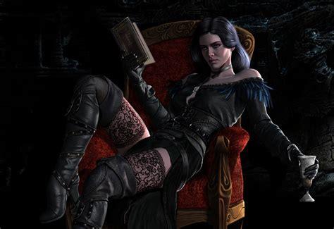 yennefer wallpaper 4k wallpaper video games fantasy girl render the witcher
