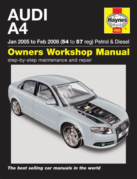 car service manuals pdf 2004 audi allroad interior lighting audi a4 petrol diesel jan 05 to feb 08 54 to 57