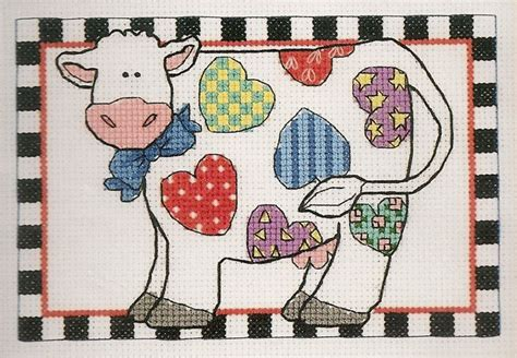 Patchwork Cow - 17 best images about cross stitch cows and pigs on