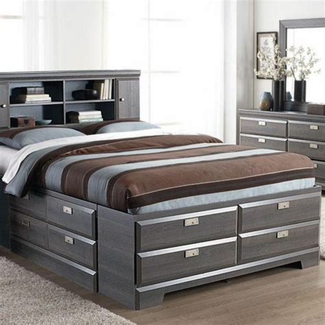 Bed With Storage And Headboard by Cypres Storage Bed Sears Sears Canada My