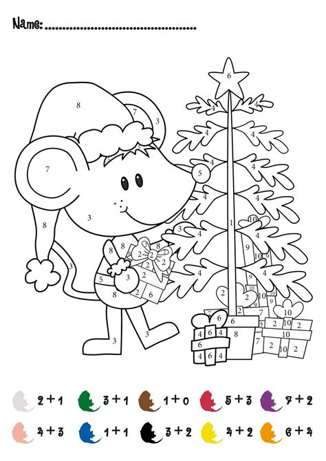 Christmas Addition And Subtraction Worksheets Math Free Colouring Sheets Ks2