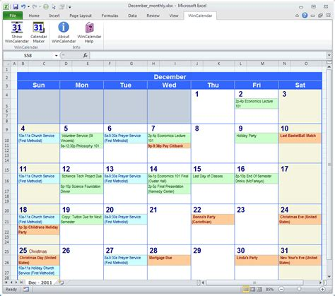 calendar maker calendar creator word excel