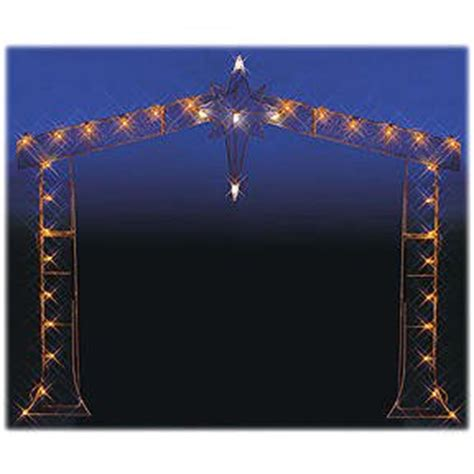 amazon com 90 quot nativity stable silhouette lighted wire