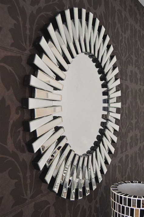 large modern glass sunburst mirror xcm impressive sunburst mirror
