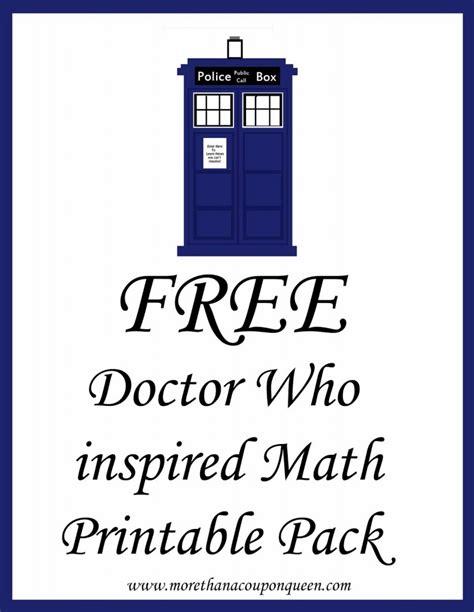 Doctor Who Printables