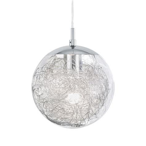 silver globe pendant light eglo 93073 luberio glass globe pendant light with
