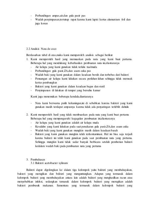 laporan praktikum membuat nata de coco makalah nata de coco
