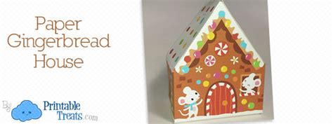 Gingerbread House Paper Craft - paper archives printable treats