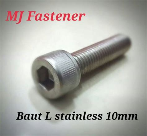 Baut L M3x8 Stainless Steel jual baut l stainless steel 10x35 mj fastener