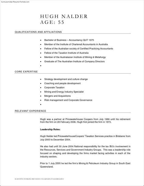 free australian resume template 28 images resume