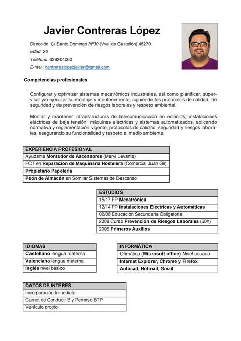 Plantilla De Curriculum Por Competencias Mi Curriculum Curriculum Por Competencias