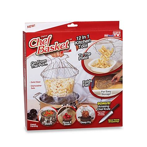 Chef Basket Kitchen Tools original chef basket deluxe multi purpose kitchen tool