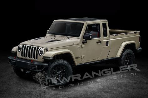 Jeep Truck Will The Jeep Wrangler Look Like This Motor Trend