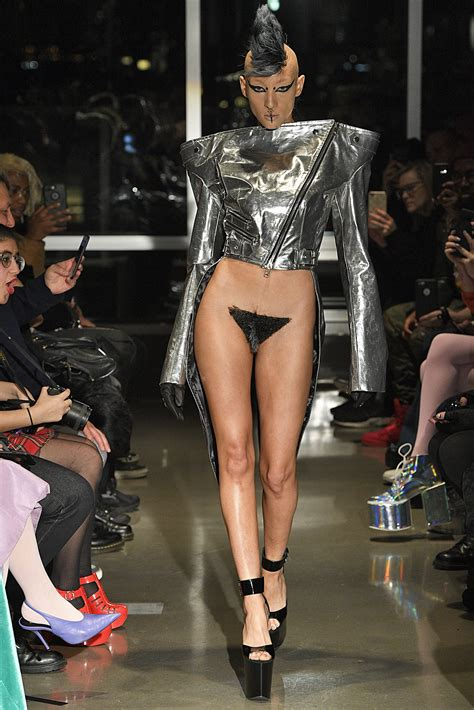 what fashionable for pubic hair fashion designer showcases pubic wigs at new york