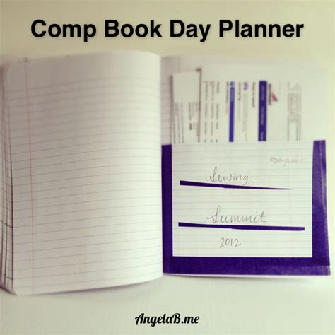 day planner books how to make a day planner from a composition book angelab me