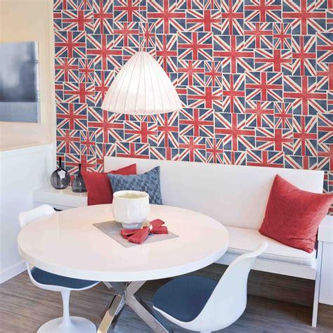 union jack wallpaper   feature wall british flag bedroom decor