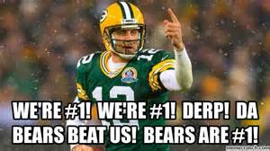 Packers Bears Memes - packers derp da bears beat us bears are 1