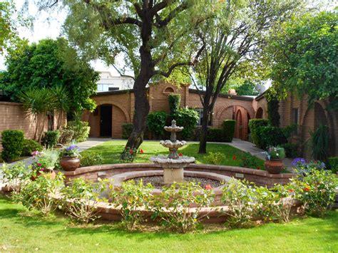 spanish style backyard mission style garden condo at spanish gardens 3002 n 32nd street phoenix az