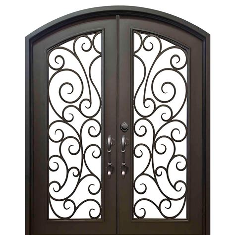 Wrought Iron Exterior Door Hardware with Florida Iron Doors 74 In X 82 In Eyebrow Lauderdale