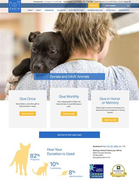 donation section dakin humane society bright cloud studio