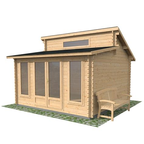 Shed Glazing by 13 X 13 Pent Log Cabin Glazed