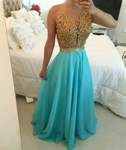 vestido festa azul turquesa com dourado vestidos de