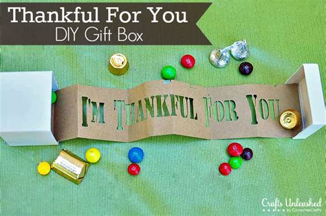 craft gifts for thanksgiving crafts thankful for you gift box tutorial