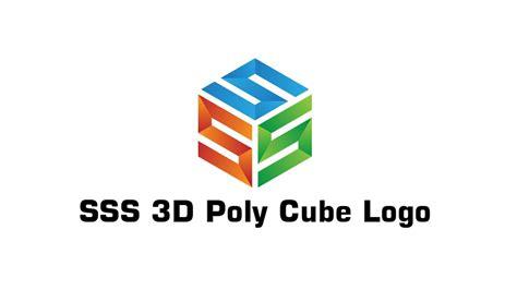 material design logo maker 3d poly cube logo design tutorial adobe illustrator