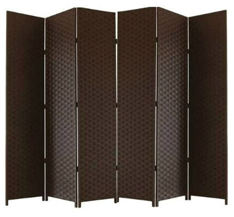 brown entwine room divider screen 6 panel room dividers uk