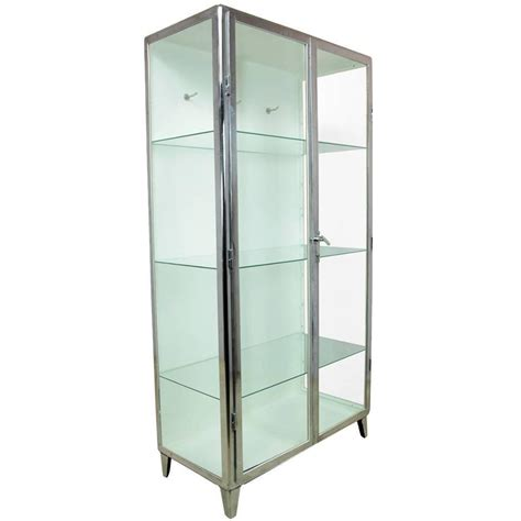 1930s Glass Display Cabinet by Polished Steel Display Cabinet Circa 1930 At 1stdibs