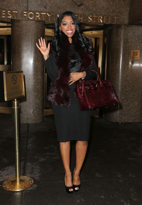 porsha williams handbag porsha williams leaving the nbc studios in new york city