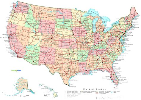 maps of the united states with cities united states map