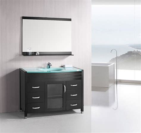 waterfall bathroom vanity design element waterfall single 48 inch modern bathroom