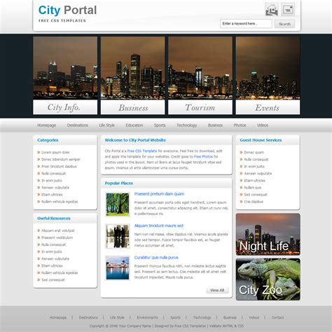 templates for portal website template 230 city portal