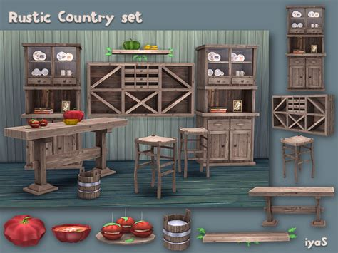 kitchen sheved soloriya s rustic country set