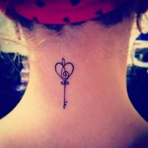simple tattoo on the neck related keywords suggestions for key tattoos for girls