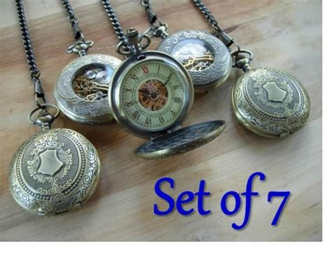 engravable gifts canada set of 7 gold pocket watches engravable personalized