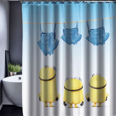 waterproof bathroom curtains minions shower curtain pattern customized shower curtain