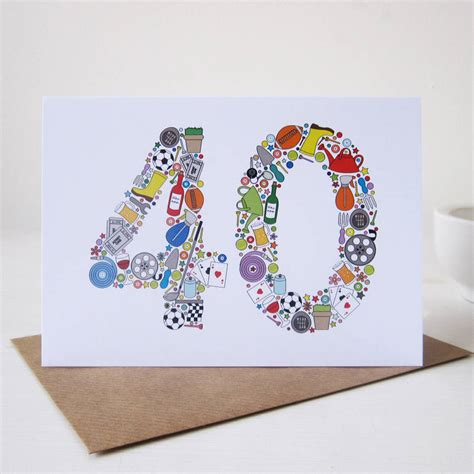 Mens 40th Birthday Cards Mens Things 40th Birthday Card By Mrs L Cards