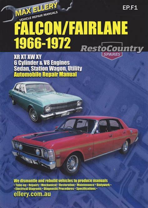 free auto repair manuals 1966 ford falcon regenerative braking ford falcon fairlane xr xt xw xy vehicle workshop repair manual 1966 72 max ellery