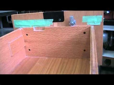 How To Add A Lock To A Drawer by Install Simple Swing Lock In Wood File Cabinet Drawer
