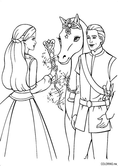 coloring pictures of barbie and ken coloring page barbie magic pegasus and ken coloring me