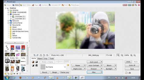 cara edit foto on the spot cara mudah edit foto menggunakan photoscape versi on the